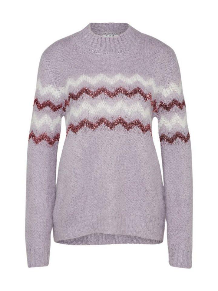 pieces Stehkragenpullover »PCKIPPA« | Bekleidung > Pullover > Stehkragenpullover | Lila | pieces