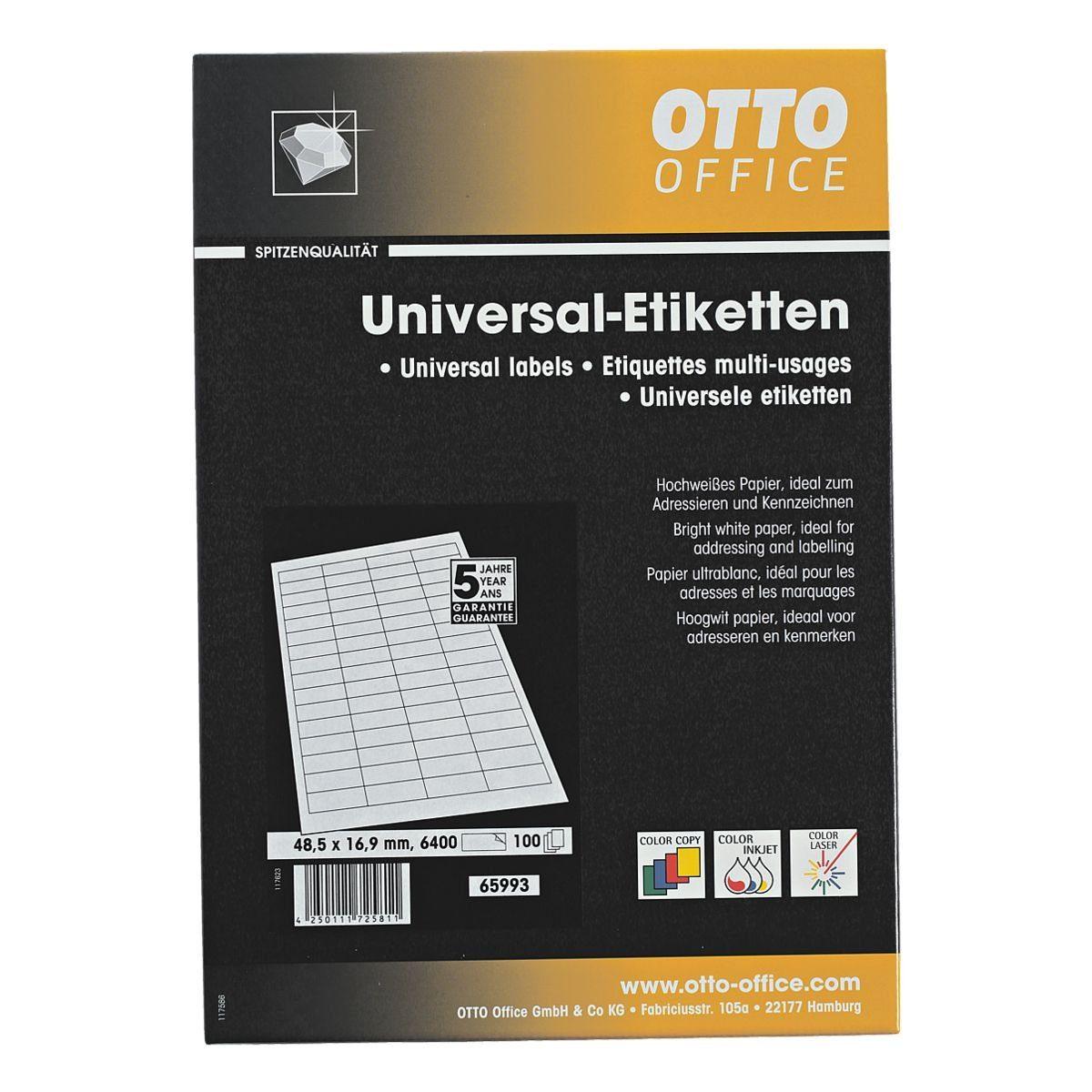 OTTOOFFICE PREMIUM 6400er-Pack Universal Klebeetiketten