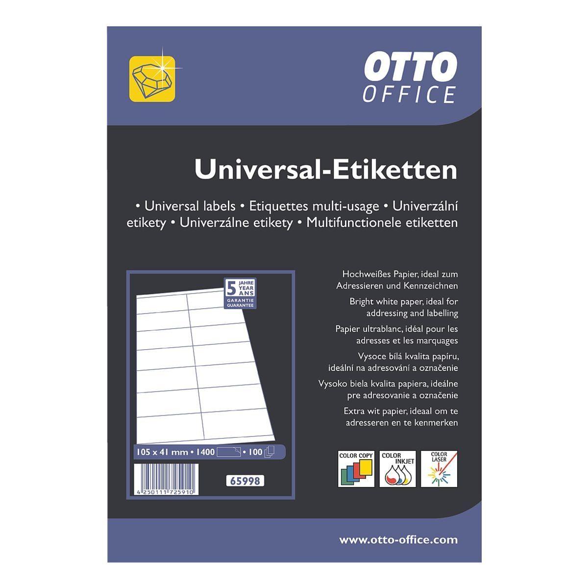 OTTO_OFFICE_PREMIUM 1400er-Pack Universal Klebeetiketten