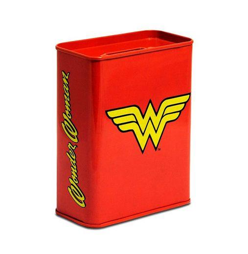 LOGOSHIRT Spardose mit Wonder Woman-Logo