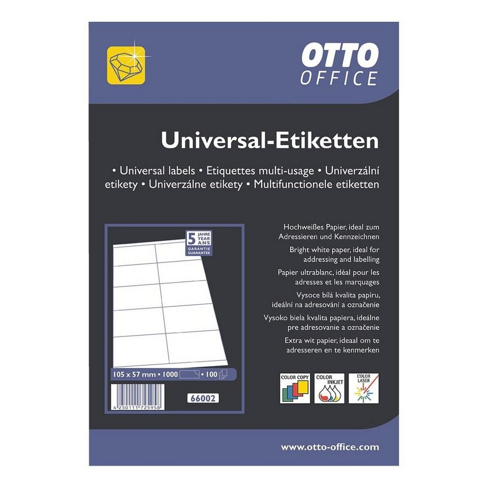 otto office premium 1000er pack universal klebeetiketten online kaufen otto. Black Bedroom Furniture Sets. Home Design Ideas