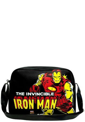 frontdruck Man Marvel Mit Tasche Comics« Coolem Logoshirt – »iron Iron Man qXIRWw
