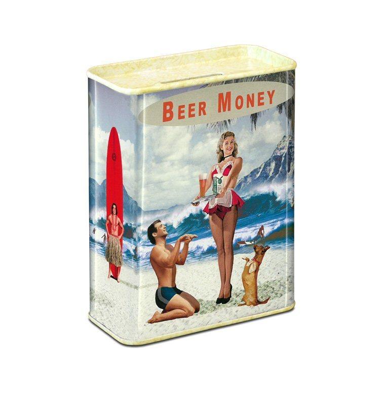 Spardose im Beer Money-Design