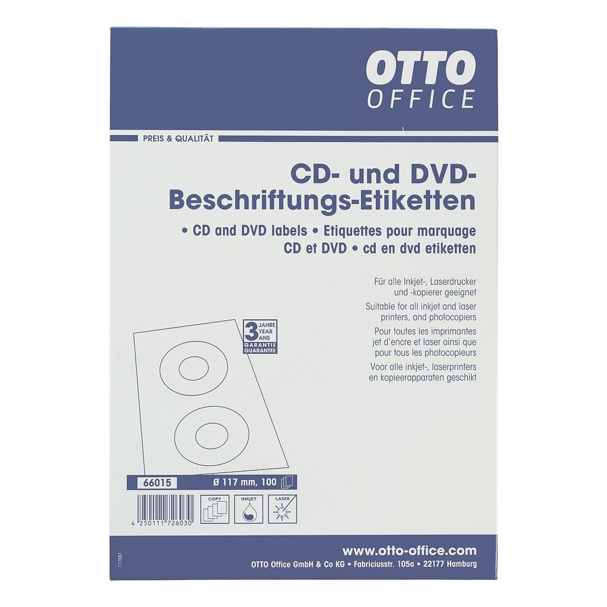 OTTOOFFICE STANDARD 200er-Pack CD-/DVD-Label
