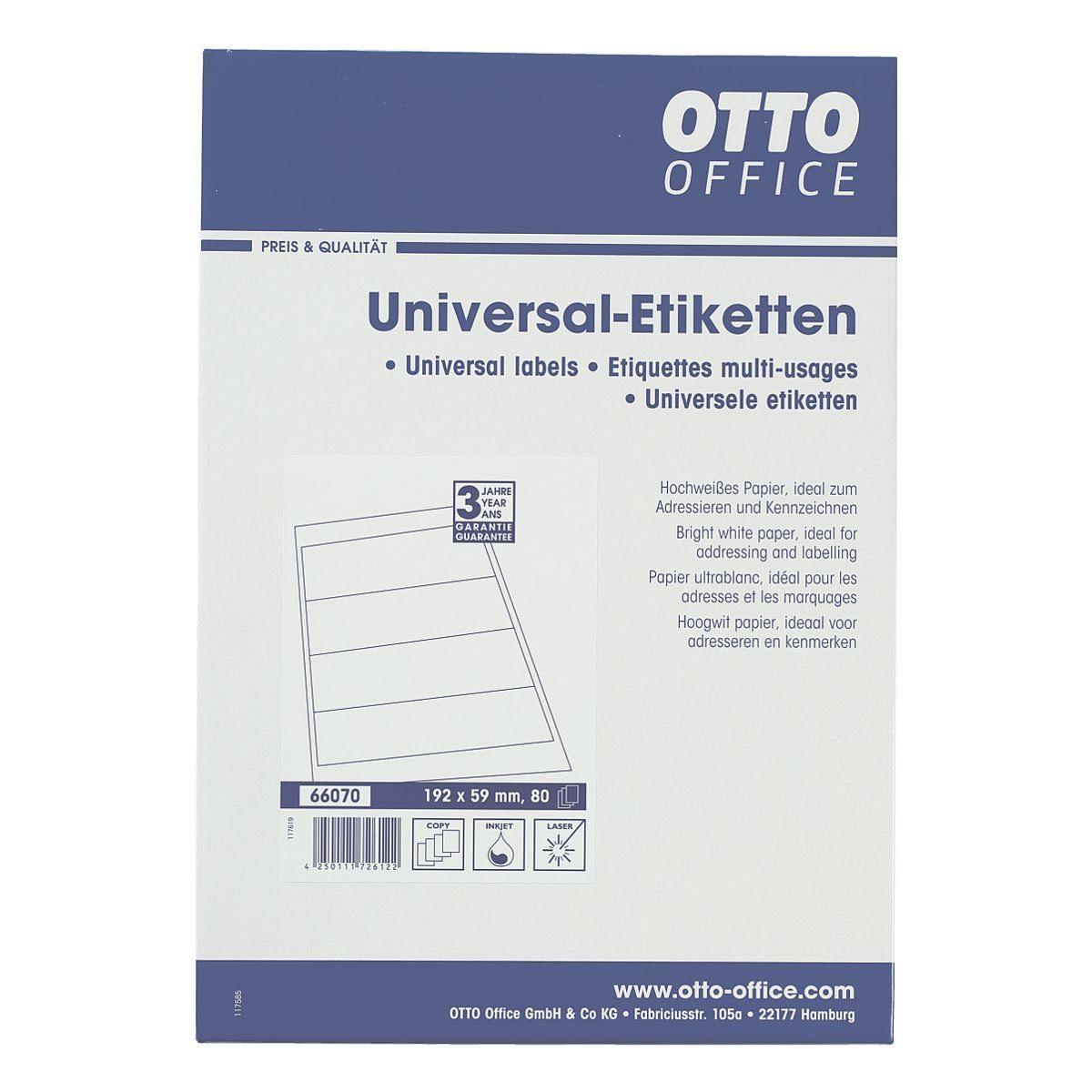 OTTO Office Standard Selbstklebende Ordnerrücken-Etiketten
