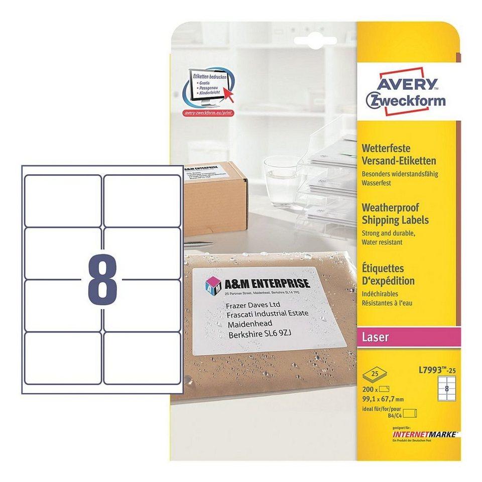 Avery Zweckform 200er-Pack Adressaufkleber »L7993-25«