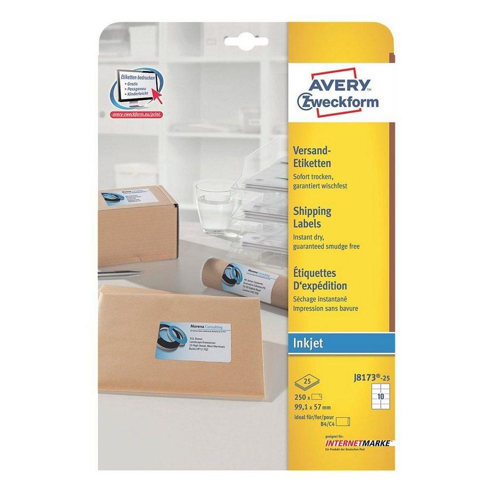 Avery Zweckform 250er-Pack Adressaufkleber »J8173-25«