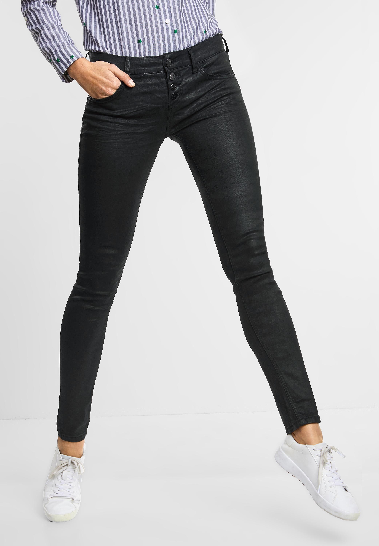 STREET ONE Slim fit Jeans, Casual Fit Denim Crissi mit leichtem Glanz online kaufen | OTTO