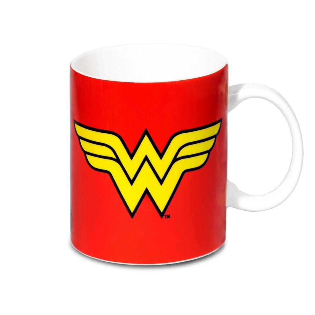 LOGOSHIRT Kaffeebecher mit Superhelden-Motiv
