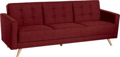 Max Winzer® 3-Sitzer »Julius«, Schlafsofa, inklusive Bettfunktion & Bettkasten, Breite 224 cm