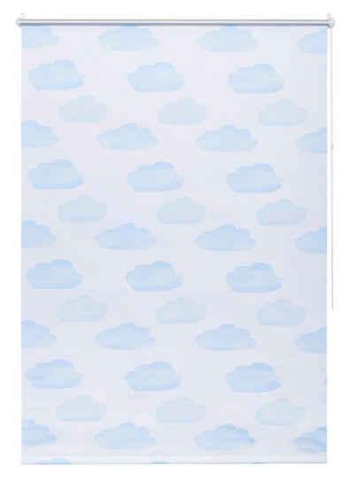 Seitenzugrollo »Wolke«, Lüttenhütt, verdunkelnd, ohne Bohren, freihängend,  Kinderrollo