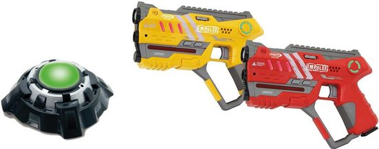 Jamara Laserpistole »Impulse Laser Gun Pistol gelb/rot« (Set, 2-tlg)