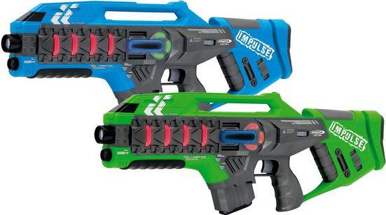 Jamara Laserpistole »Impulse Laser Gun Rifle blau/grün« (Set, 2-tlg)
