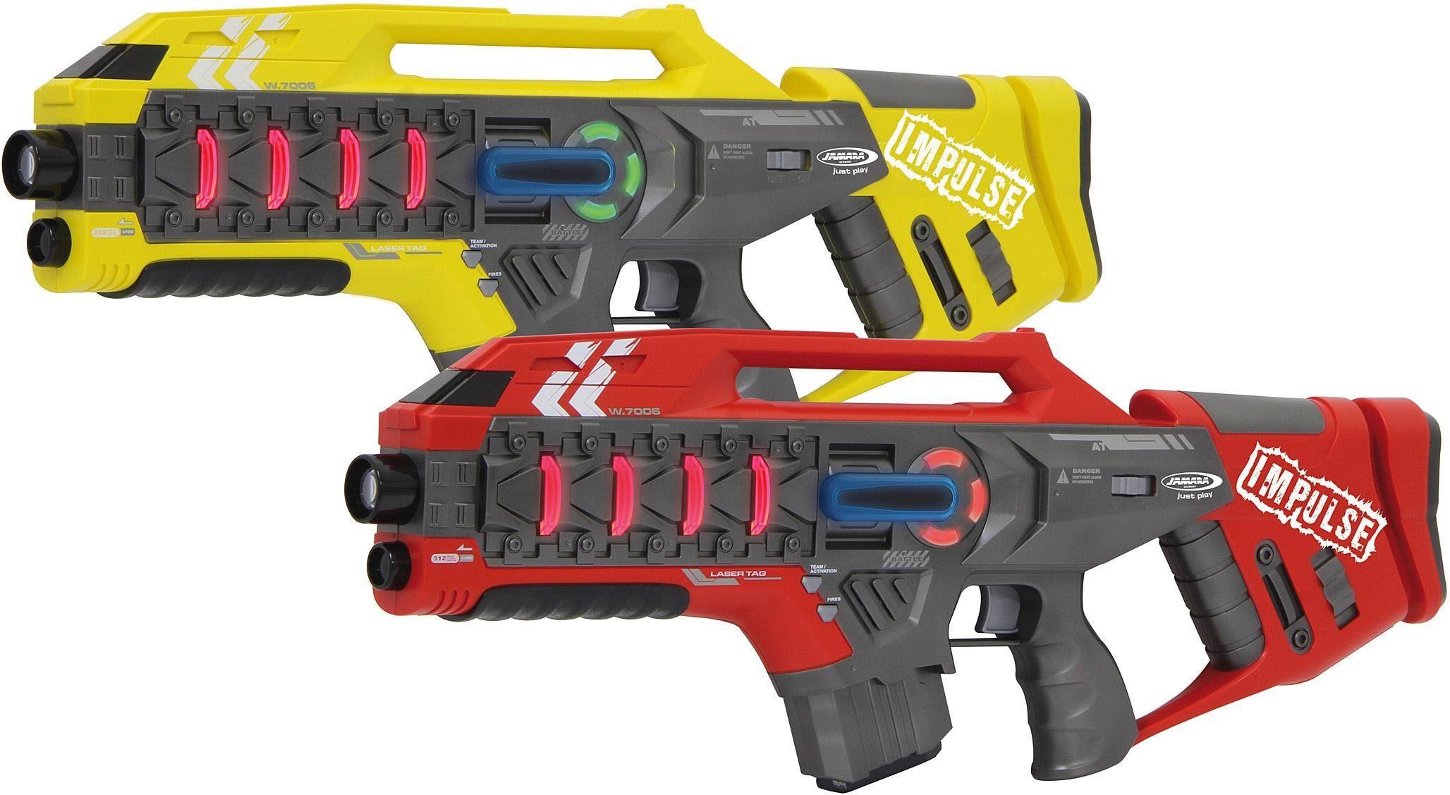 JAMARA Laser Gewehr Set, »Impulse Laser Gun Rifle Set, gelb/rot«