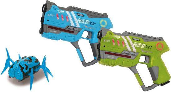 Jamara Laserpistole »Impulse Laser Gun Pistol blau/grün« (Set, 2-tlg)