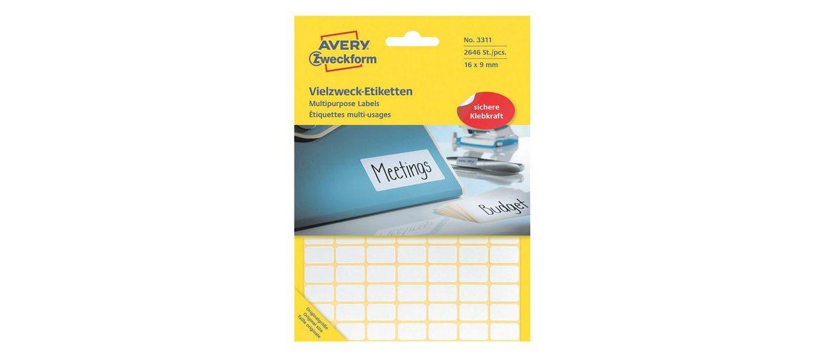 Avery Zweckform 2646er-Pack Vielzweck-Etiketten »3311«