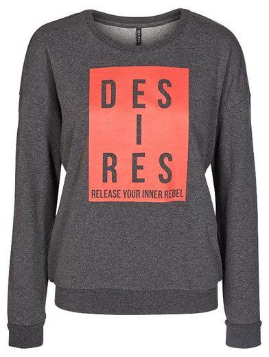 DESIRES Sweatshirt mit coolem Statement-Motiv