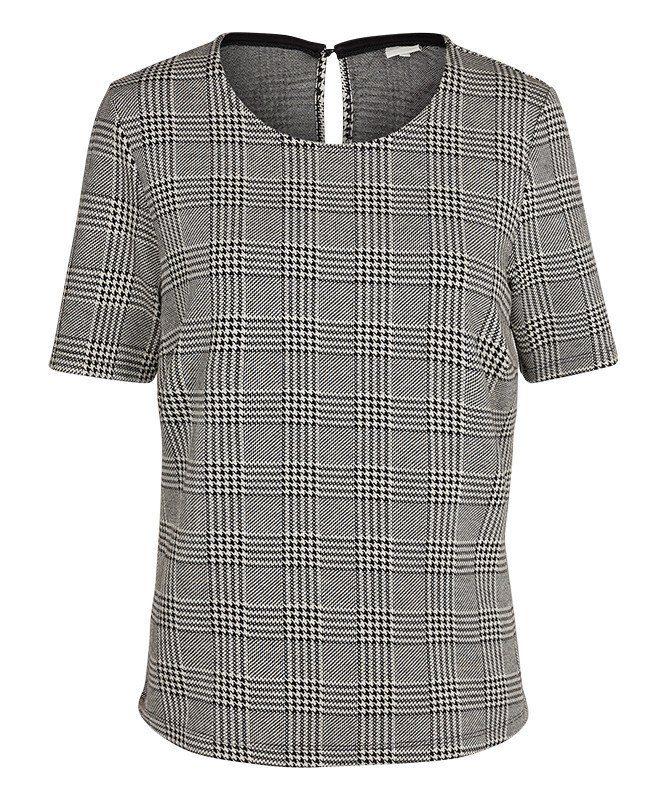 PEP Bluse mit elegantem Karo-Muster
