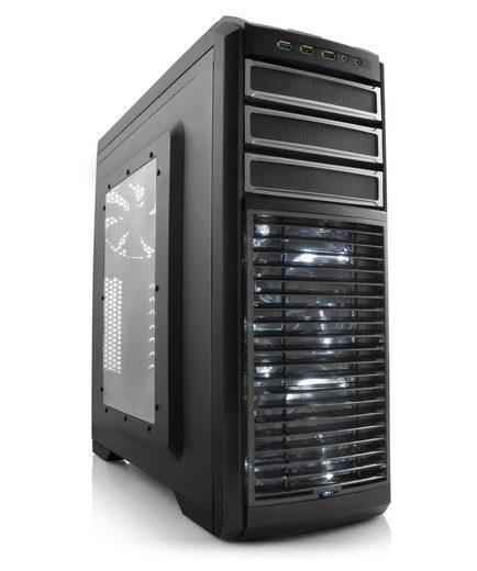 DeepCool Gehäuse, Sichtfenster, schwarz, beleuchtet »Deepcool Kendomen TI«