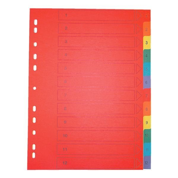 OTTOOFFICE PREMIUM Kartonregister 1-12 A4 farbig