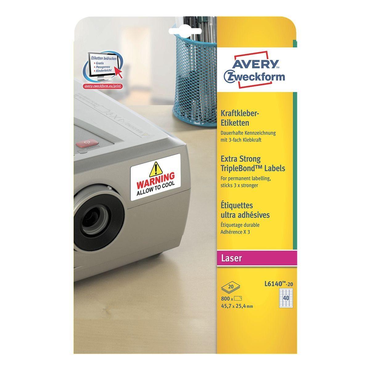 Avery Zweckform 800er-Pack Kraftkleber-Etiketten »L6140-20«