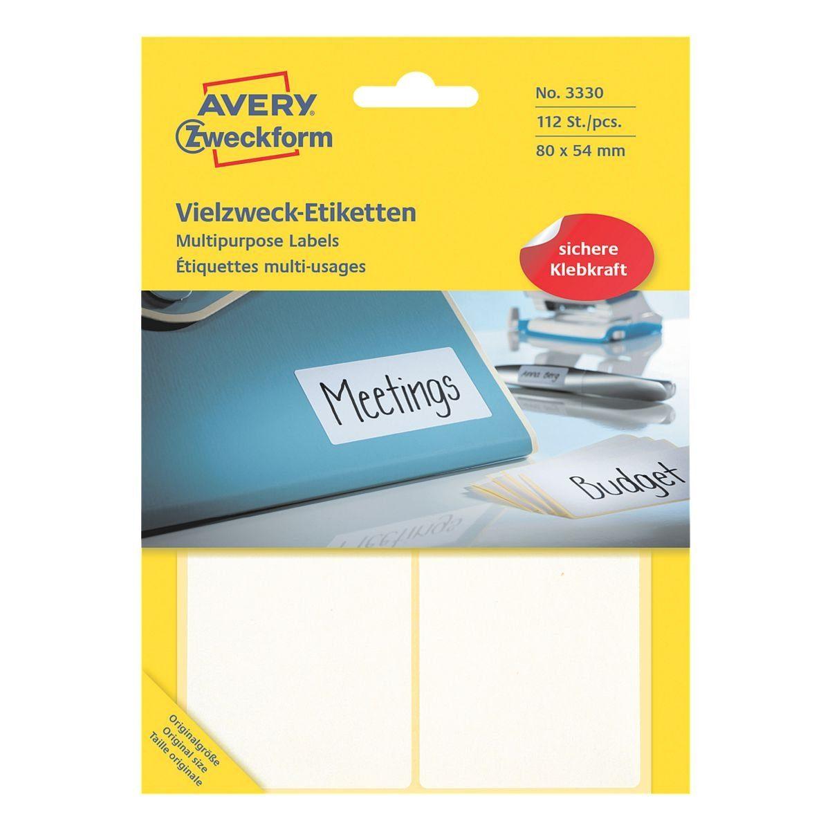 Avery Zweckform 112er-Pack Vielzweck-Etiketten »3330«