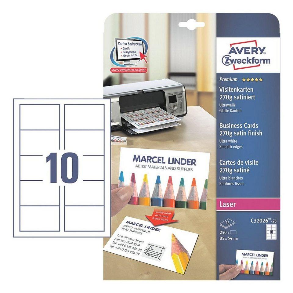 Avery Zweckform Visitenkarten