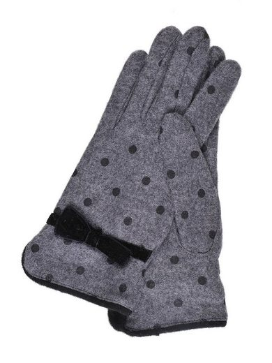 TOP SECRET Fingerhandschuhe mit Punkte-Muster