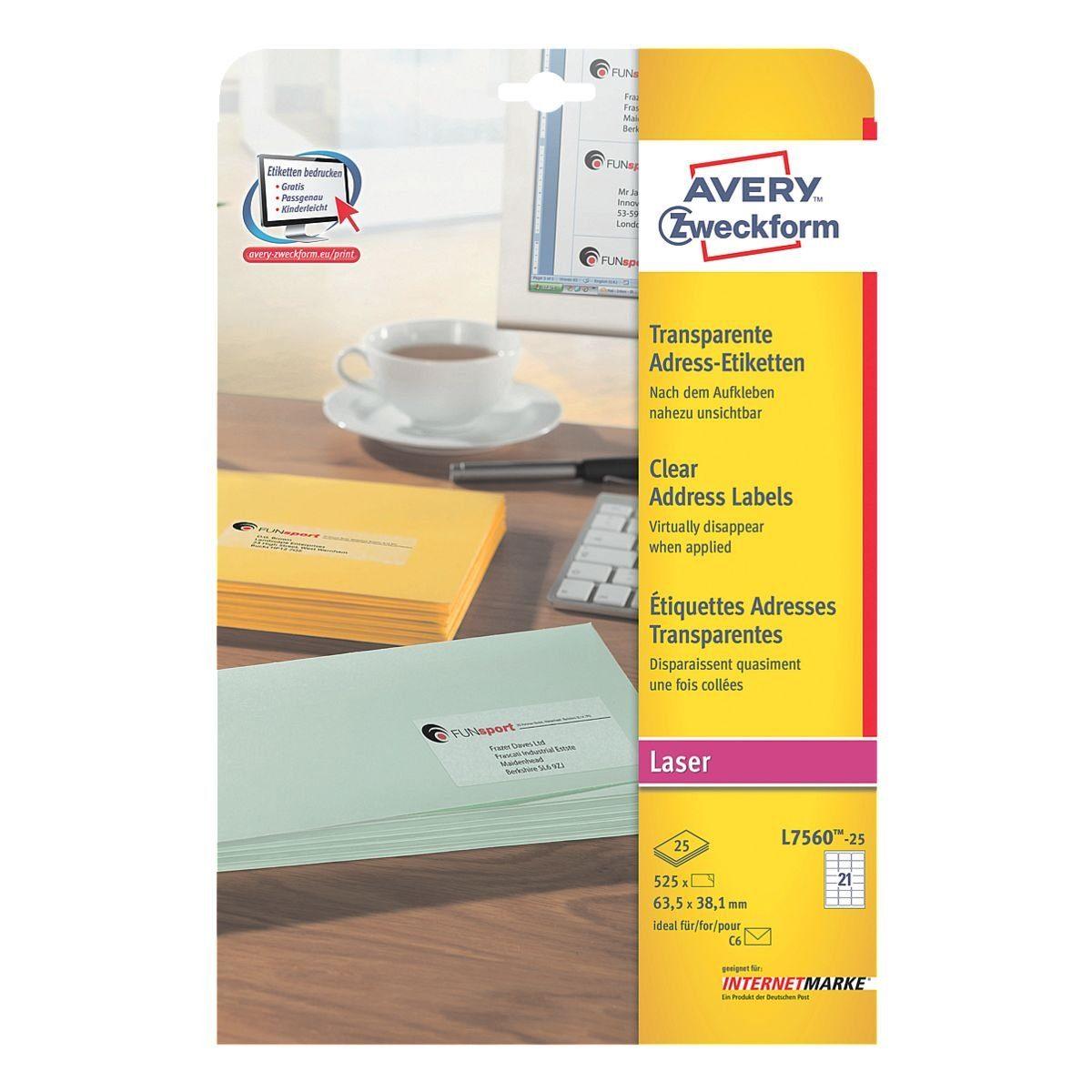 Avery Zweckform 525er-Pack Folien-Etiketten »L7560-25«