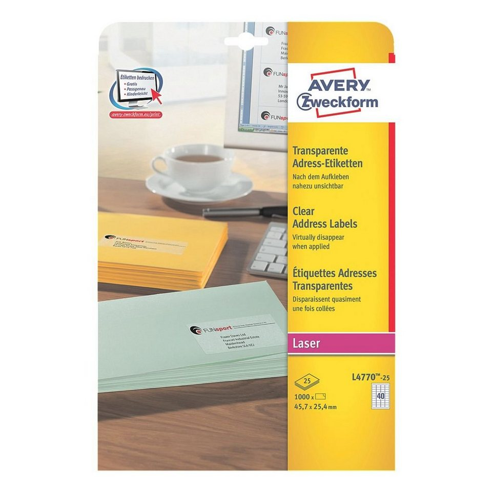 Avery Zweckform 1000er-Pack Folien-Etiketten »L4770-25«