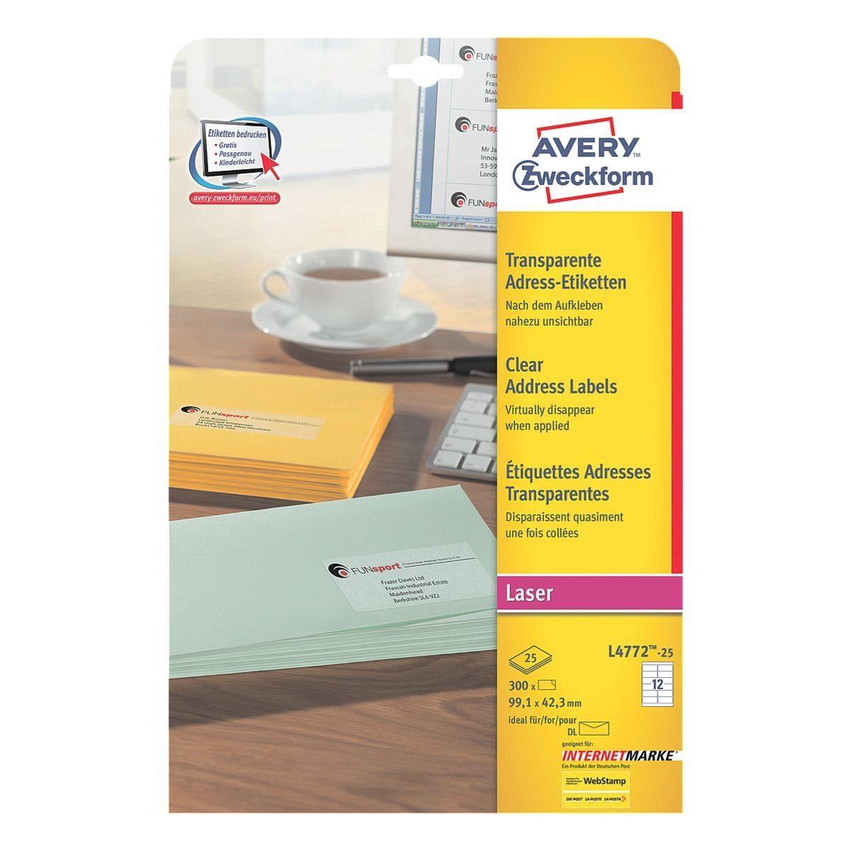 Avery Zweckform 300er-Pack Folien-Etiketten »L4772-25«