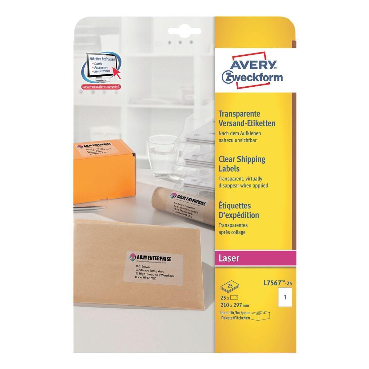 Avery Zweckform 25er-Pack Folien-Etiketten »L7567-25«