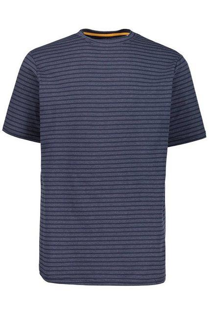 jp1880 -  T-Shirt bis 7XL, T-Shirt mit feinen Ringeln, Rundhalsausschnitt, Halbarm, bequeme Passform