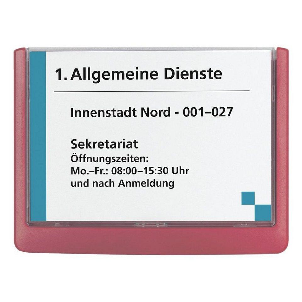 Durable Türschild »Click Sign« in rot