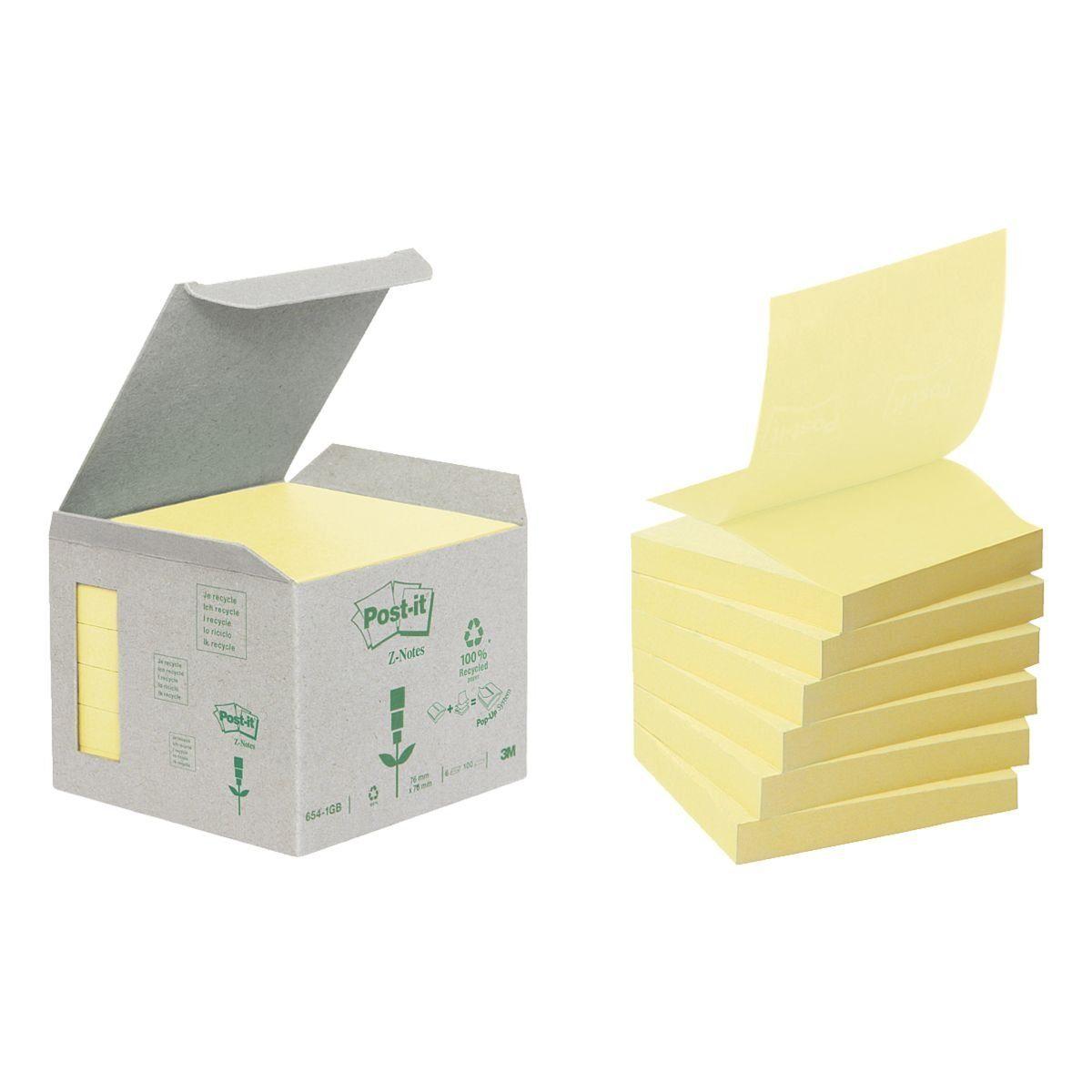 Post-It 6er-Pack Haftnotizblöcke »Recycling Z-Notes«
