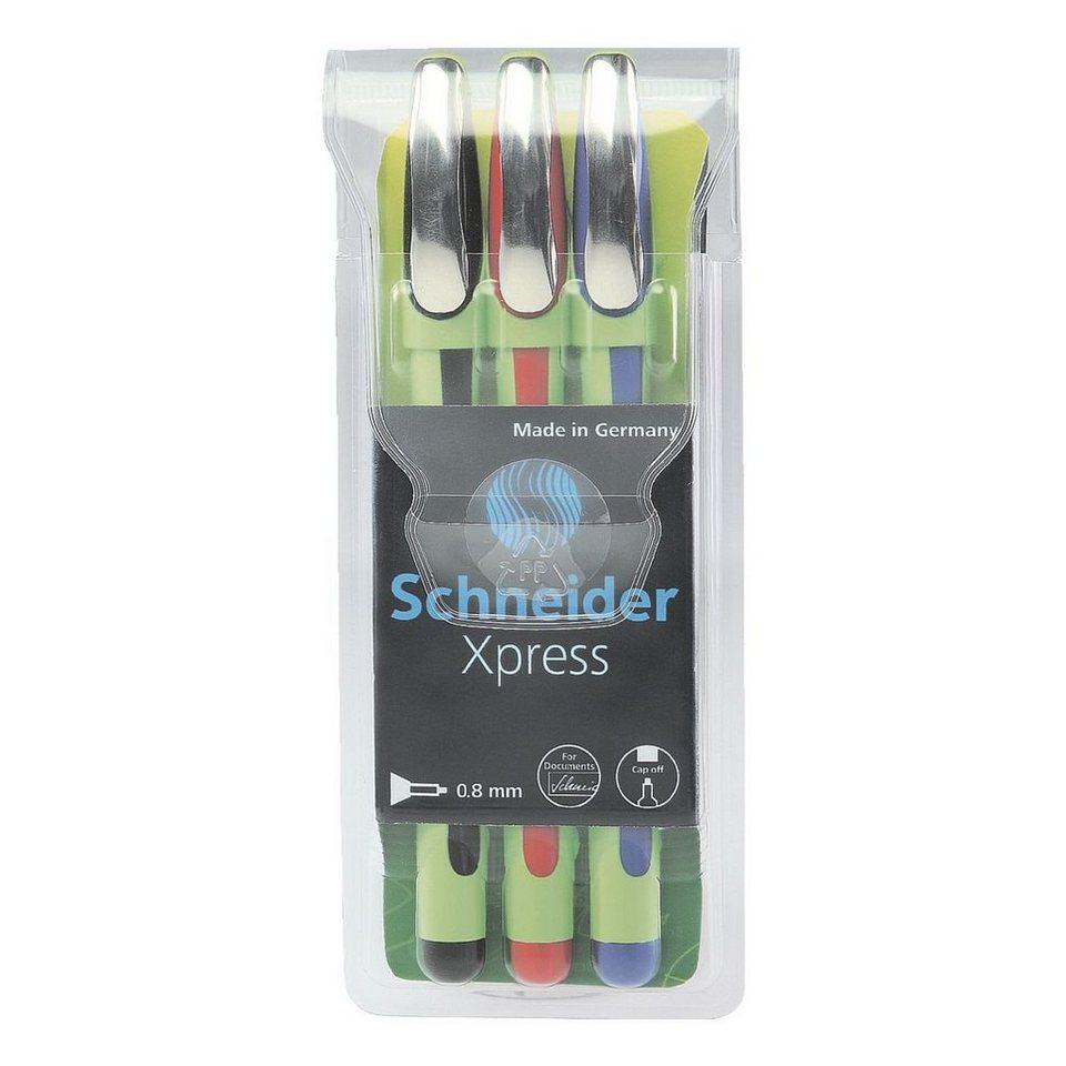 Schneider 3er-Pack Fineliner »Xpress«