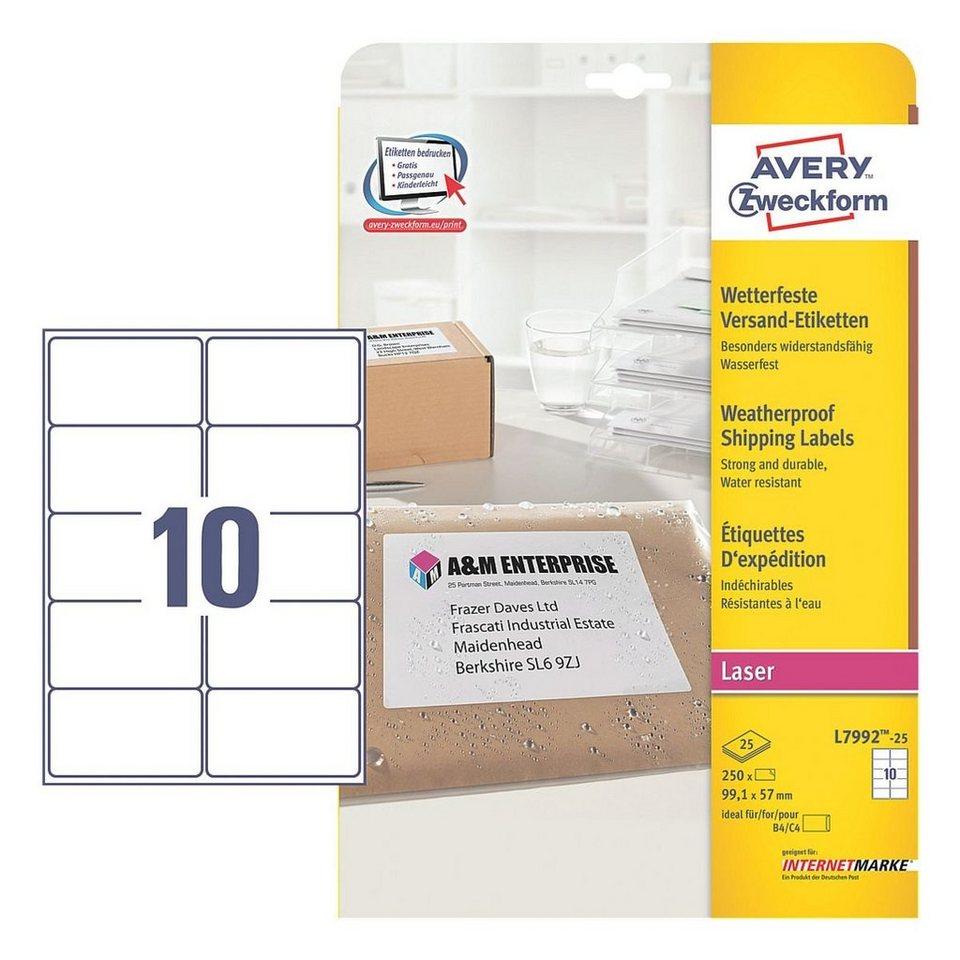 Avery Zweckform 250er-Pack Adressaufkleber »L7992-25«