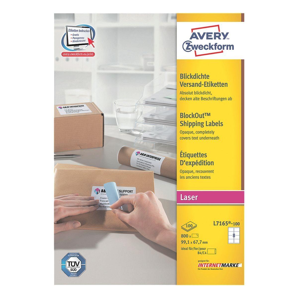 Avery Zweckform 800er-Pack Adressaufkleber »L7165-100«