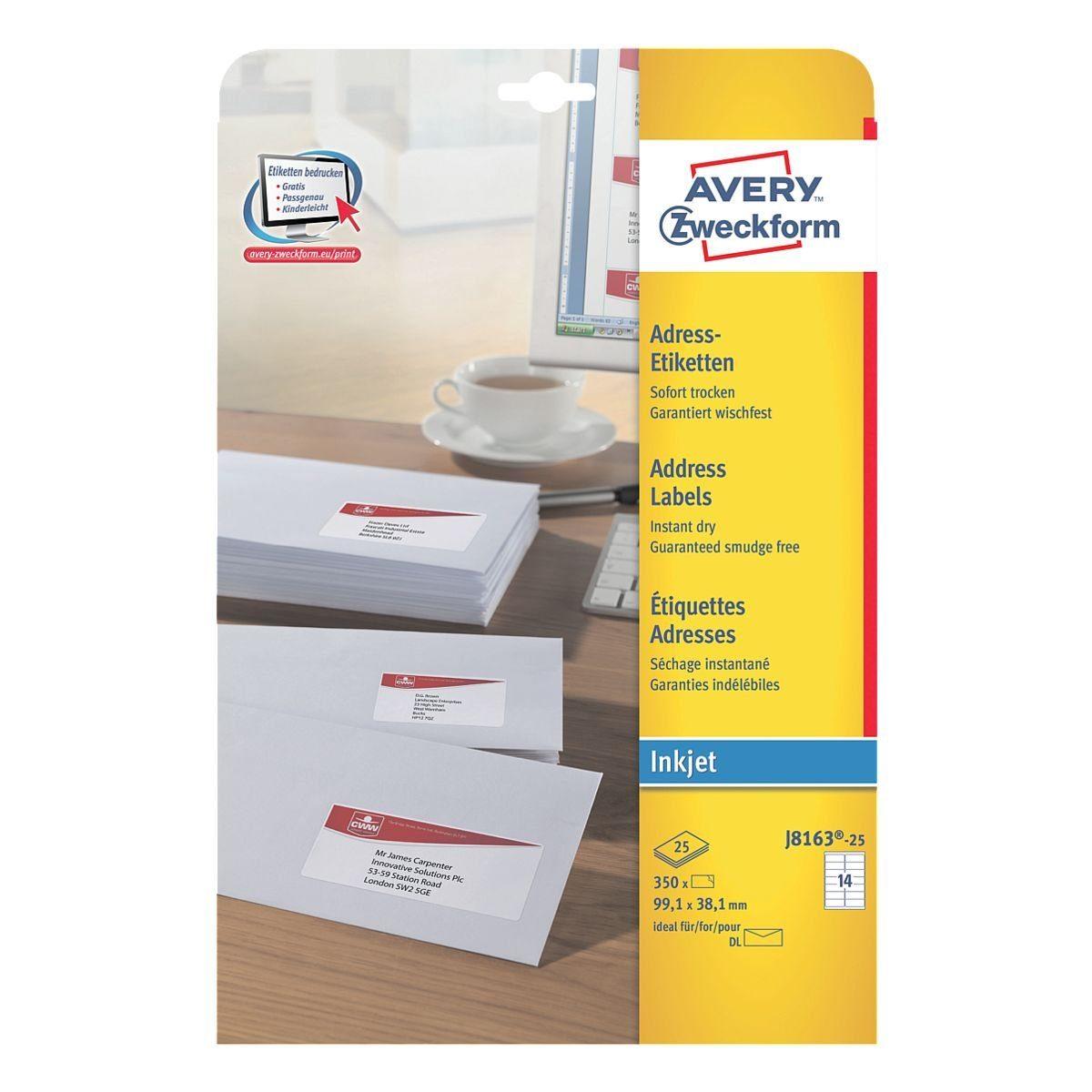 Avery Zweckform 350er-Pack Adressaufkleber »J8163-25«