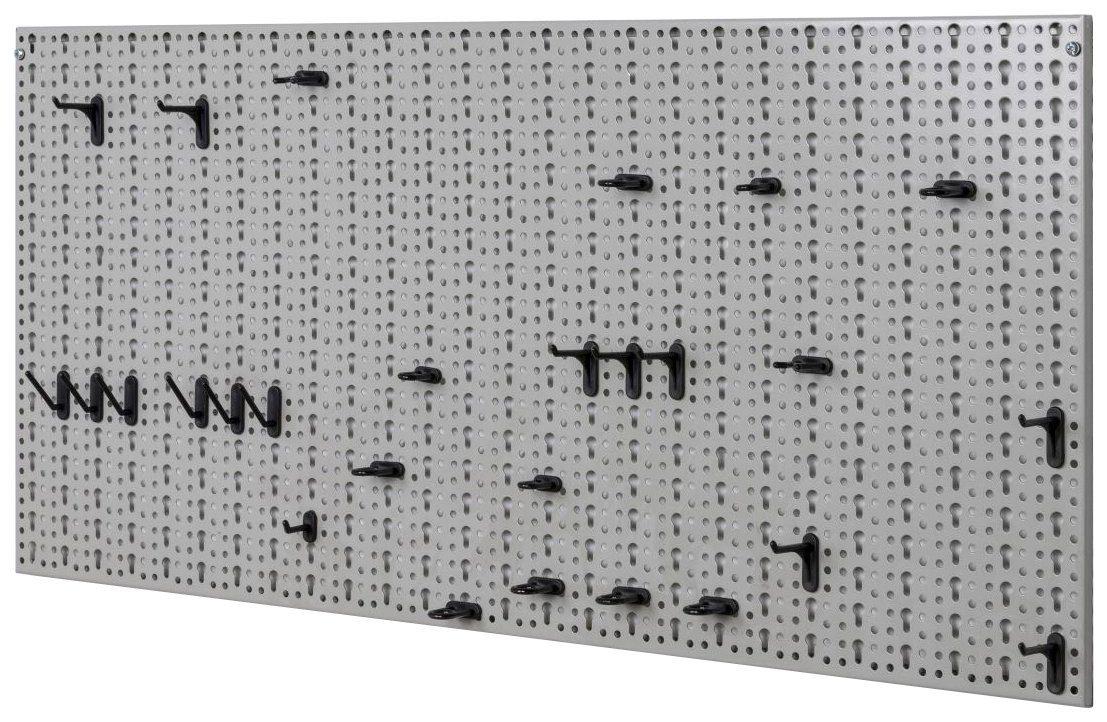 KREHER Lochwand »XXL«, Lochblech + 52-tlg. Hakensortiment