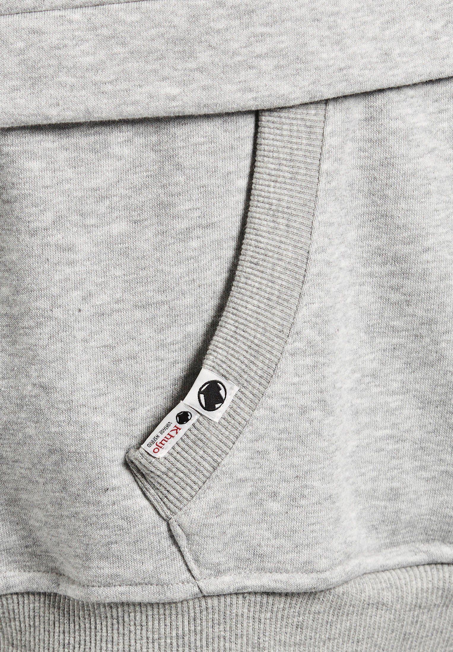 Khujo Kapuzensweatshirt »lora« Mit Kängurutasche