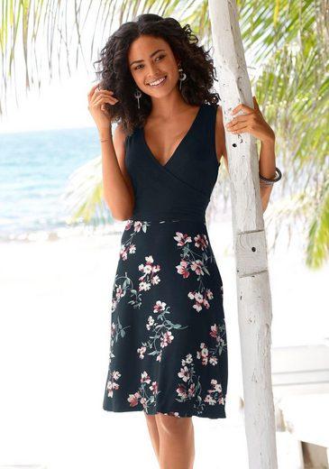 Beachtime Strandkleid mit bedrucktem Rockteil