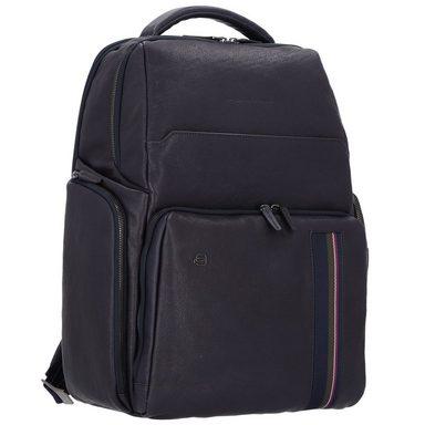 Leder Square Piquadro Laptopfach Rucksack 42 Cm Black t7vvqZfB
