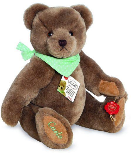 Teddy Hermann® Kuscheltier »Carlo, 30 cm«, mit grünem Halstuch und individueller Bestickung, Made in Germany