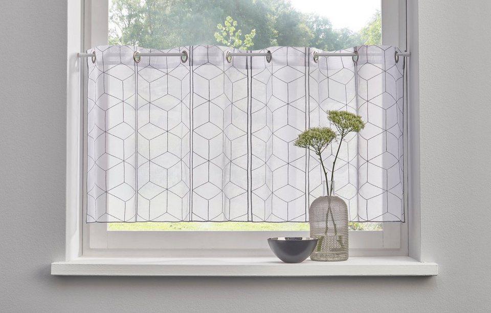Scheibengardine julia my home sen 1 st ck mit - Gardinen flurfenster ...