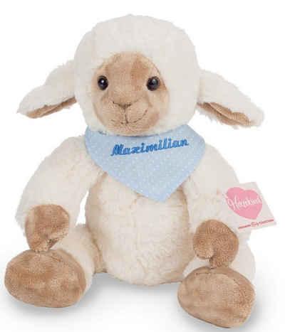 Teddy Hermann® Kuscheltier »Herzekind, Lämmchen Frido, 32 cm mit blauem Halstuch«, mit individueller Bestickung