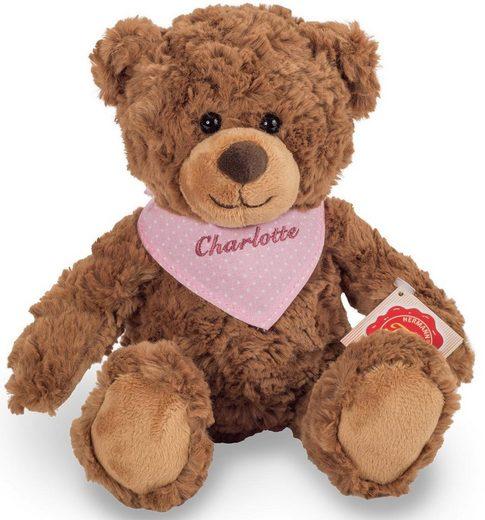 Teddy Hermann® Kuscheltier »Teddy braun mit rosa Halstuch, 30 cm«, mit individueller Bestickung