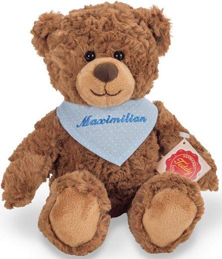 Teddy Hermann® Kuscheltier »Teddy braun mit blauem Halstuch, 30 cm«, mit individueller Bestickung
