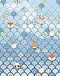 Vliestapete »Pure Shelly Bluewave«, Comic, Bild 1