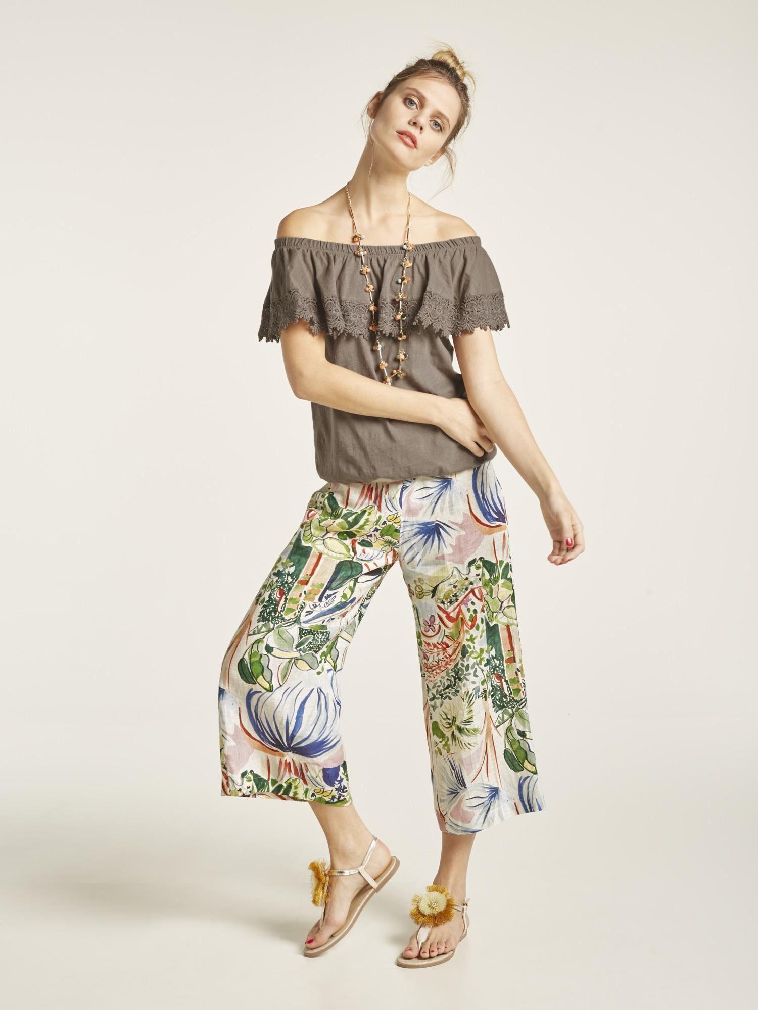 Online Style Heine Blumenprint Kaufen Druckhose 29YbEeWDHI